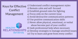 conflict management in relationships