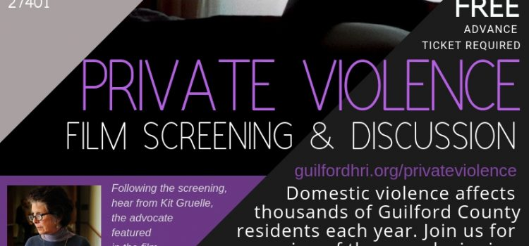 Private Violence Screening, October 18th, 2018