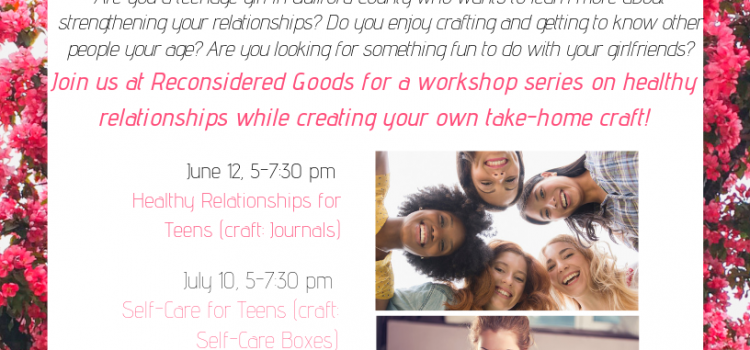 Workshop for Teenage Girls in Partnership with Reconsidered Goods