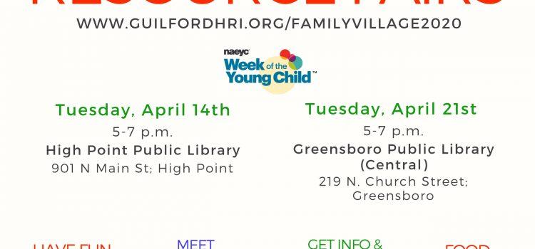 2020 Family Village Resource Fairs