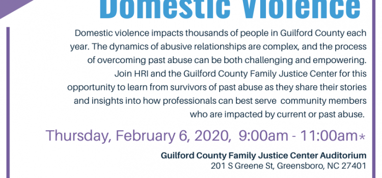 2.6.2020: Lived Experiences Professional Training: Overcoming Domestic Violence